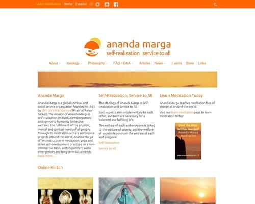Ananda Marga: Meditation, Yoga and Social Service – Self-Realization and Service to All