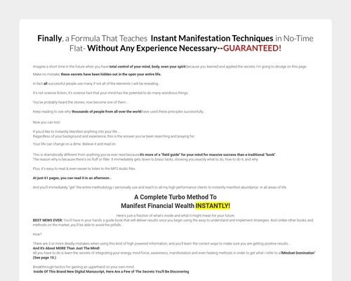 New – Matrix Manifestation – High Epcs – Very Low Refunds!